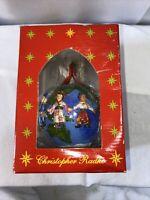 Vintage 2000 Christopher Radko United For Peace  Christmas Glass Ornament IOB