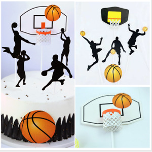 Basketball Slam Dunk Cake Birthday Decorations Toppers Party Decoration
