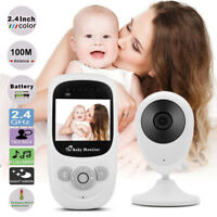 """2.4"""" LCD Color Baby Monitor Wireless Security Camera Audio Video Lullabies Radio"""