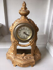 Petite vecchio stile Impero francese in bronzo dorato da tavolo/MENSOLA Sveglia