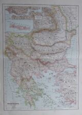 Karte aus 1889 - Balkanhalbinseln - alte Landkarte old map