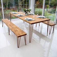 4 Hairpin Table Legs Set Furniture Bench Metal FREE Screws + Feet Antique Copper