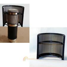 Double Layer Recording Mic Microphone Windscreen Pop Filter Mask Shield Black