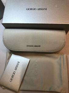 Giorgio Armani Flip Top Eyeglasses Case And Dust Bag Brand New