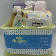 Johnson's Bath Discovery Baby Gift Set (6 Items) With Basket * New