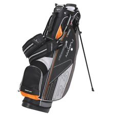 New Maxfli Golf 2.5 Ultralight Stand Bag 4 Way Divider Black Grey Orange
