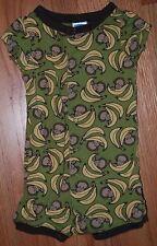 Gymboree Shorties Boys 6-12M One Piece Romper Pajamas - Monkey Business Bananas