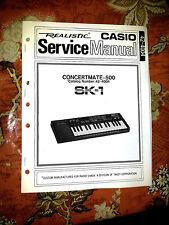 CASIO SK1 SK-1 / CONCERTMATE 500 ** repair / SERVICE Manual w/ Schematics