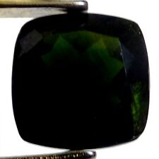 NATURAL CHROME DIOPSIDE GEMSTONE LOOSE CUSHION-CUT 10.1 x 10.0 mm UNUSUALGREEN