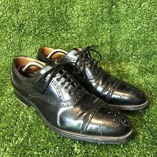 CHURCH'S Black Leather Oxford Brogues Shoes Size US 7.5 -8