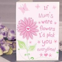 Personalised I'D PICK YOU FLOWER Greetings Card Mother's Day Birthday Mum Nanna