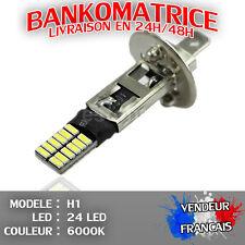 2 AMPOULE LAMPE H1 55W 6000K 12V 24 LED SMD FEU PHARE XENON SUPER WHITE
