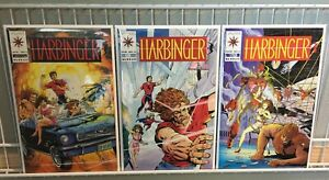 Harbinger #1-3 VF-NM Valiant (1992) -Complete Issue 1 W/Coupon