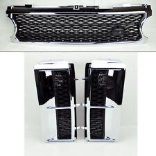 Range Rover 06-09 Mesh Chrome Blk Front Bumper Hood Grill & Side Fender Vents