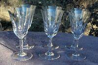 6 verres à eau en cristal de st louis modèle cerdagne  signés H  17,8 cm