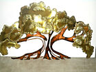 Vintage Brutalist C Jere Style Copper Metal Brass Abstract Tree Wall Sculpture