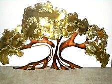 New listing Vintage Brutalist C Jere Style Copper Metal Brass Abstract Tree Wall Sculpture