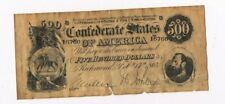 $500- Confederate Currency, Richmond, Feb 17th 1861