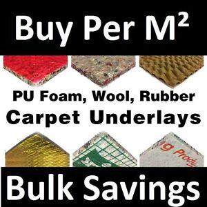 Carpet Underlay - Cloud 9, Tredaire 8mm 10mm or 12mm Thick, Foam Rubber - Cheap