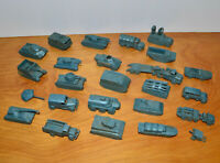 Vintage MPC MILITARY MINIATURES TEENIES Lot Tanks Troop Carriers 1966 60s Toys