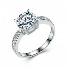 925 STERLING SILVER GENUINE AUSTRIAN CRYSTAL AND CUBIC ZIRCONIA SOLITAIRE RING