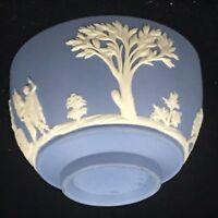 Vintage Wedgwood Jasper Ware Blue Mini Sugar Bowl