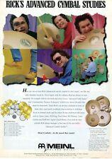 1996 Print Ad of Roland Meinl Custom Shop Drum Cymbals w Rick Latham