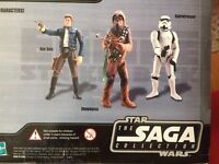 Star Wars ACTION FIGURES HAN SOLO CHEWBACCA TROOPER Empire Strikes Back NIB