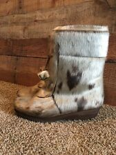 Pajar women's beige/brown fur Zip up winter boots size 39