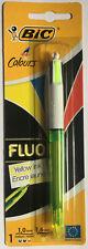 BIC 4 Colores en 1 Fluo Bolígrafo Negro Azul Rojo Fluo Amarillo Mediano Puntilla trato