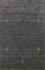 Tribal Little Animals Gabbeh Oriental Area Rug Hand-knotted Nomad Carpet 3'x5'