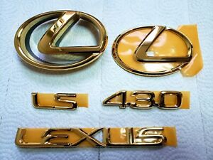 2005 FITS New Lexus LS430 Complete Emblem Full Complete Kit Word Gold 2004 2006