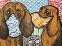 Bloodhound Dog Art Print 8 x 10 Quarantine Decor by Kimberly Helgeson Sams KSams