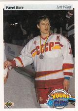 1990-91 Upper Deck Pavel BURE YG  RC  Vancouver Canucks