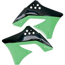 UFO CARENADO Fresco Verde-Negro Spoiler Del Tanque KAWASAKI KX 250F 10-11