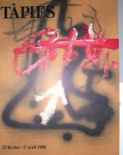TAPIES Antoni originale Lithographie art abstrait abstraction Espagne