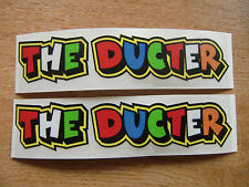 """Valentino Rossi style text - """"THE DUCTER""""  x2 stickers / decals  - LARGE 210mm"""