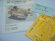 FERRARI 126 C TURBO 1980 GP ITALIA 1/43 DECALS