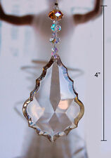1 of Crystal Champagne Beaded Leaf Ceiling Fan Pull