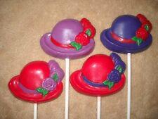 1 Chocolate Red Hat Society Ladies Garden Tea Derby Kentucky Lollipop Lollipops