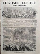 MONDE ILLUSTRE 1860 N 161 BANQUET OFFERT PAR LES HABITANTS CHAMBERY A M. LAITY
