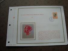 MONACO -document ceres 1er jour 9/8/71 - timbre yvert et tellier aerien n° 90A
