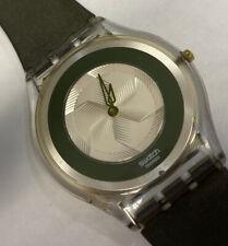Swatch Green AG 1999 Ultra Thin Swiss Watch New Battery Nice!
