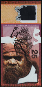 Polymer Test Note CCL / Securency, 25 Aborigine, Guardian Substrate intaglio