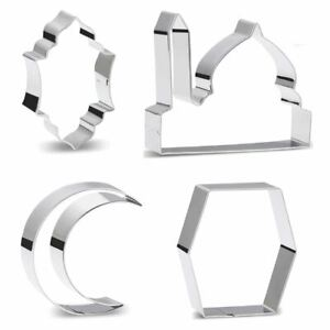Eid Cookie Cutters - Metal Shapes Islamic Mosque Baking