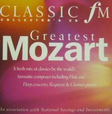 GREATEST MOZART: CLASSIC FM CD (2004) LEPPARD MARRINER HARNONCOURT, LILI KRAUS
