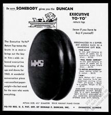 1962 Duncan Yo Yo Executive YoYo photo vintage print ad