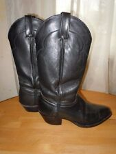 J.CHISHOLM WOMEN'S BLACK LEATHER DROVER SERIES WESTERN BOOTS, SZ 7D, BARELY WORN