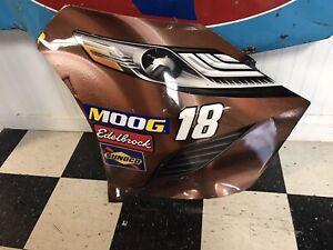 2019 Kyle Busch #18 Nascar Race Used Sheetmetal Nose Corner JGR Toyota Champion