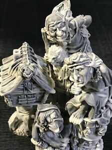 Baba Yaga Witches figurines Gifts Souvenirs marble chips Russian folklore tales
